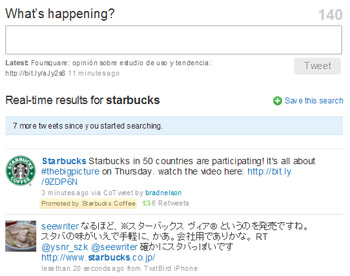 Promoted tweets de Starbucks