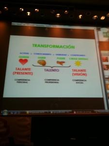 Diapositiva sobre el cambio de Álex Rovira