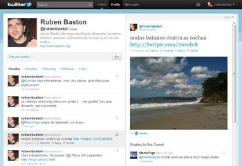 #newtwitter, pantallazo del nuevo twitter
