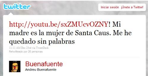 Tweet de Buenafuente sobre Mrs Claus