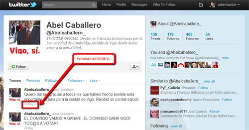 Twitter de Abel Caballero