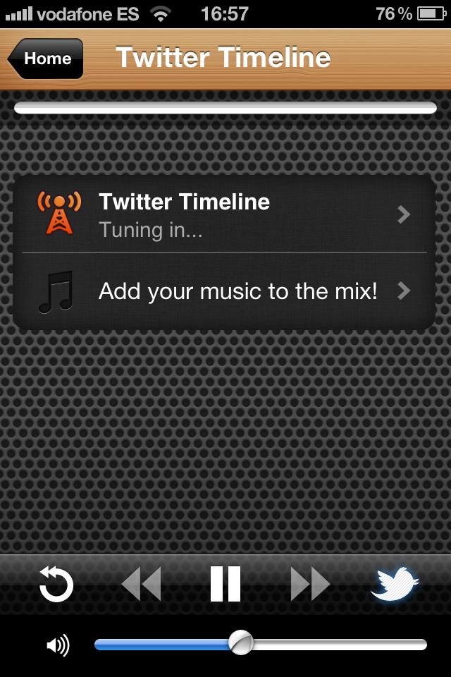 The Social Radio: mi radio de Twitter